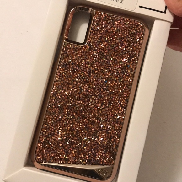 separation shoes b2047 f9606 Brilliance Rose Gold Sparkle case for IPhone X NWT